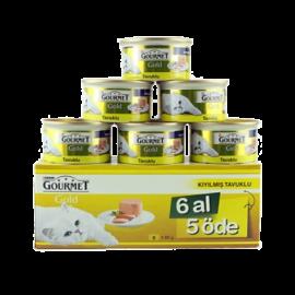 Gourmet Kıyılmış Tavuk Etli Kedi Konservesi 6 al 5 öde