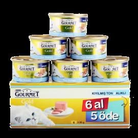 Gourmet Kıyılmış Ton Balıklı Kedi Konservesi 6 al 5 öde